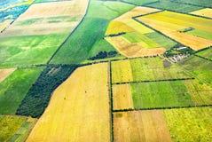 Άποψη πουλιών τομέων γεωργίας κηφήνων airview στοκ εικόνα με δικαίωμα ελεύθερης χρήσης