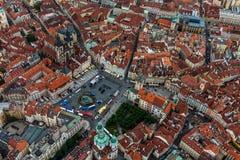 Άποψη πουλιών της παλαιάς πλατείας της πόλης στοκ φωτογραφίες