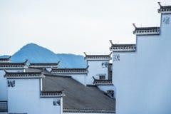 Άποψη που πυροβολείται από το παλαιό χωριό Anhui Στοκ Φωτογραφίες
