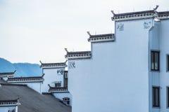 Άποψη που πυροβολείται από το παλαιό χωριό Anhui Στοκ φωτογραφία με δικαίωμα ελεύθερης χρήσης