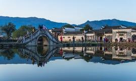 Άποψη που πυροβολείται από το παλαιό χωριό Anhui Στοκ φωτογραφίες με δικαίωμα ελεύθερης χρήσης