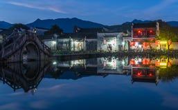 Άποψη που πυροβολείται από το παλαιό χωριό Anhui Στοκ Φωτογραφία
