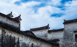 Άποψη που πυροβολείται από το παλαιό χωριό Anhui, Στοκ Φωτογραφίες