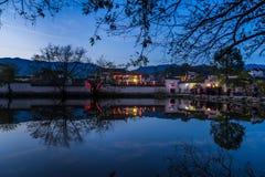 Άποψη που πυροβολείται από το παλαιό χωριό Anhui Στοκ εικόνες με δικαίωμα ελεύθερης χρήσης