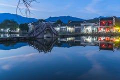 Άποψη που πυροβολείται από το παλαιό χωριό Anhui, Hong Cun στην Κίνα Στοκ εικόνα με δικαίωμα ελεύθερης χρήσης