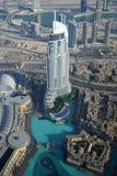 Άποψη πολυόροφων κτιρίων ξενοδοχείων διευθύνσεων, Ντουμπάι Στοκ Εικόνες