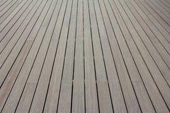 Άποψη προοπτικής της ξύλινης ή ξύλινης σύστασης Στοκ φωτογραφίες με δικαίωμα ελεύθερης χρήσης