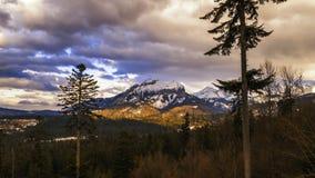 Άποψη προς την αιχμή Havran στα βουνά Tatra στη Σλοβακία - χρονικό σφάλμα τηλεοπτικό 30fps φιλμ μικρού μήκους