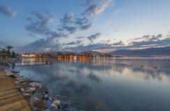 Άποψη πρωινού σχετικά με τα ξενοδοχεία κόλπων και θερέτρου του Άκαμπα Eilat, Ισραήλ στοκ φωτογραφίες με δικαίωμα ελεύθερης χρήσης