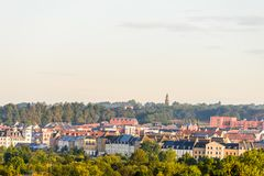 Άποψη πρωινού της πόλης εικονικής παράστασης πόλης Upton Αγγλία, UK του Νόρθαμπτον Στοκ Εικόνες
