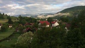Άποψη πρωινού των βουνών Fagaras απόθεμα βίντεο