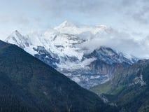 Άποψη πρωινού Annapurna στοκ εικόνες