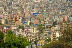 Άποψη πρωτευουσών του Κατμαντού Νεπάλ στοκ εικόνα