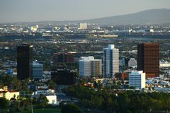 Άποψη πόλεων από ένα υψηλό σημείο Στοκ εικόνες με δικαίωμα ελεύθερης χρήσης