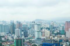 Άποψη πόλεων από το τελευταίο όροφο των δίδυμων πύργων Petronas, Μαλαισία, Ασία στοκ φωτογραφίες