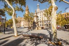 Άποψη πόλεων της Βαρκελώνης Στοκ εικόνες με δικαίωμα ελεύθερης χρήσης