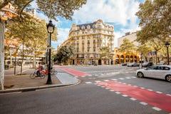 Άποψη πόλεων της Βαρκελώνης Στοκ Εικόνα