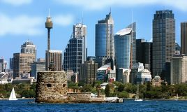 Άποψη πόλεων του Σίδνεϊ στην Αυστραλία στοκ εικόνες