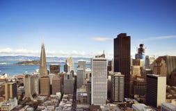 Άποψη πόλεων του Σαν Φρανσίσκο από την κορυφή Στοκ φωτογραφία με δικαίωμα ελεύθερης χρήσης