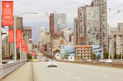 Άποψη πόλεων από τη γέφυρα Granville Βανκούβερ Στοκ εικόνες με δικαίωμα ελεύθερης χρήσης