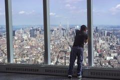 Άποψη πόλεων παρατηρητήριων ουρανοξυστών της πόλης της Νέας Υόρκης Στοκ Εικόνα