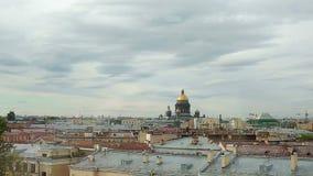 Άποψη πόλεων στην Άγιος-Πετρούπολη απόθεμα βίντεο