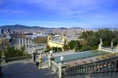 Άποψη πόλεων της Βαρκελώνης, Ισπανία Στοκ εικόνα με δικαίωμα ελεύθερης χρήσης