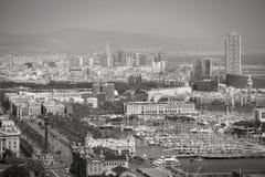 Άποψη πόλεων της Βαρκελώνης Στοκ Φωτογραφίες