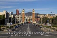 Άποψη πόλεων της Βαρκελώνης Στοκ φωτογραφίες με δικαίωμα ελεύθερης χρήσης
