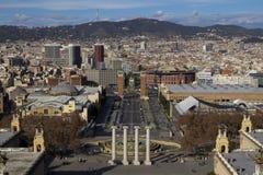 Άποψη πόλεων της Βαρκελώνης Στοκ Εικόνες