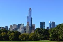 Άποψη πόλεων της Νέας Υόρκης από το Central Park Στοκ φωτογραφία με δικαίωμα ελεύθερης χρήσης