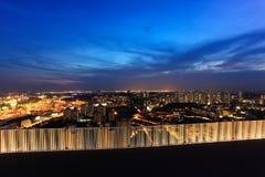 Άποψη πόλεων της Σιγκαπούρης από Duxton Στοκ Εικόνες