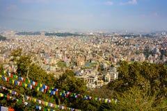 Άποψη πόλεων του Κατμαντού από Swayambhunath Στοκ εικόνα με δικαίωμα ελεύθερης χρήσης