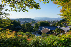 Άποψη πόλεων του Κιότο (από το βουνό) Στοκ Φωτογραφίες