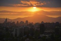 Άποψη πόλεων του Σαντιάγο, Χιλή Στοκ Φωτογραφίες