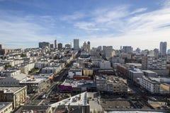 Άποψη πόλεων του Σαν Φρανσίσκο Στοκ Φωτογραφίες