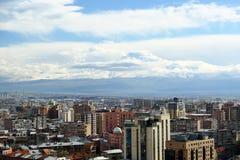 Άποψη πόλεων Jerevan και Ararat Στοκ φωτογραφία με δικαίωμα ελεύθερης χρήσης