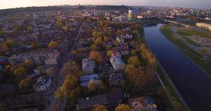 Άποψη πόλεων, Vilnius απόθεμα βίντεο