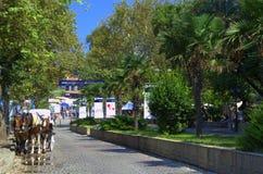 Άποψη πόλης οδών Sozopol, Βουλγαρία Στοκ Εικόνα