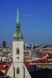 Άποψη Ρωμαίου - καθολικός ορίζοντας καθεδρικών ναών του ST Martin και πόλεων της Μπρατισλάβα Στοκ εικόνες με δικαίωμα ελεύθερης χρήσης