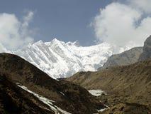 Άποψη σειράς βουνών Annapurna Στοκ Εικόνες
