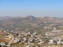 άποψη σε ένα χωριό στην Ιορδανία στοκ εικόνα
