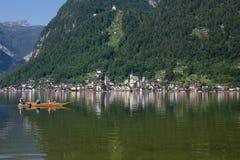 Άποψη σε Hallstatt σε Salzkammergut στοκ εικόνα με δικαίωμα ελεύθερης χρήσης
