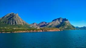 Άποψη σε Vaerangfjorden και Melfjorden, Jektvik, Νορβηγία Στοκ εικόνες με δικαίωμα ελεύθερης χρήσης