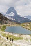 Άποψη σε Zermatt Στοκ Εικόνες