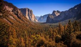 Άποψη σηράγγων Yosemite Στοκ Εικόνα