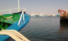 Άποψη σκαφών και θάλασσας Στοκ φωτογραφία με δικαίωμα ελεύθερης χρήσης