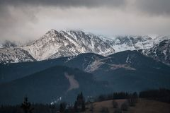 Άποψη στα βουνά Tatry Στοκ Φωτογραφίες