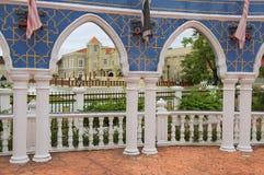 Άποψη στα κτήρια του παλατιού Istana Maziah σουλτάνων ` s στην Κουάλα Terengganu, Μαλαισία Στοκ Φωτογραφία