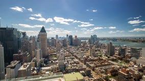 Άποψη στεγών της Νέας Υόρκης Μανχάταν ημέρα Timelapse απόθεμα βίντεο